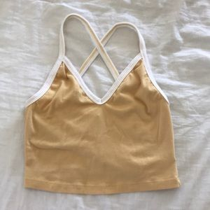 Urban Outfitters yellow tank